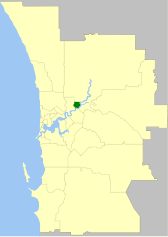 Town of Bassendean - Location of Town of Bassendean within inner Perth metropolitan area