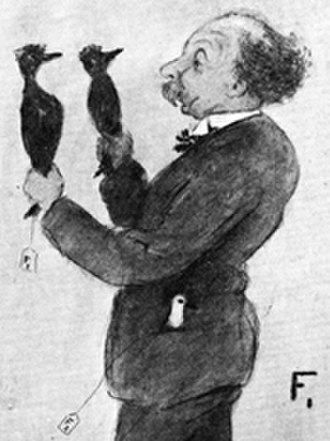 Mutationism - Drawing of William Bateson, 1909, by the biologist Dennis G. Lillie