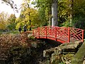 Batsford Arboretum - red bridge-geograph-4719525.jpg
