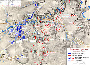 Pyotr Bagration - The Bagration flèches were the epicenter of the Battle of Borodino. There, the most brutal fighting took place