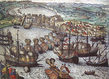 June 1: The Conquest of Tunis begins. Battle of Tunis 1535 Attack on Goletta.jpg