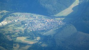 Dorfprozelten - Aerial picture of Dorfprozelten from the north