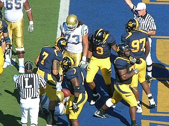 2008 California Golden Bears football team - The Bruins are halted at the 1-yard line