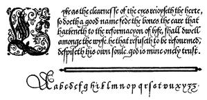 John de Beauchesne - English Bastard Hand by John de Beauchesne.