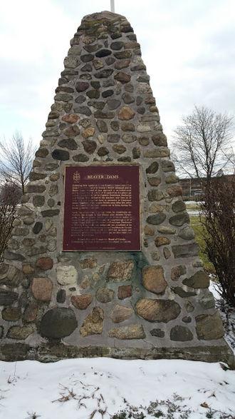 Battle of Beaver Dams - Beaverdams Original Monument now located at Beaverdams Park Thorold ON