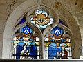 Belle-Église (60), église Saint-Martin, collatéral sud, verrière n° 2 - saint Nicolas, sainte Madeleine présentant des donateurs.JPG