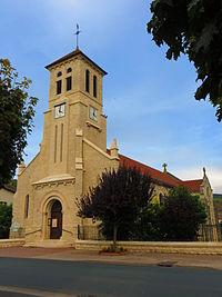 Belleville-sur-Meuse l'église Saint-Sébastien.JPG