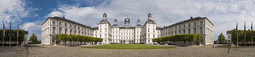 Cylindrical Panorama of Bensberg Palace, Germany.