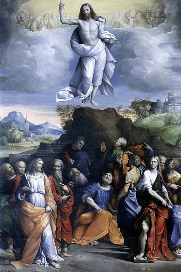 Ascension of Christ by Garofalo 1520 Benvenuto Tisi da Garofalo - Ascension of Christ - WGA08474.jpg