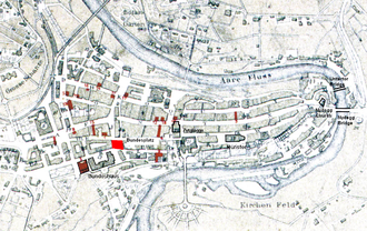 Bundesplatz - Old City of Bern with Bundesplatz highlighted