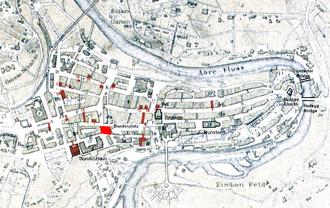 Bundesplatz - Old City of Bern with Bundesplatz highlighted