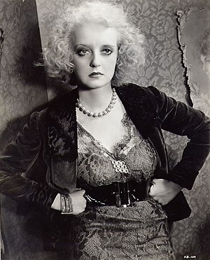 Of Human Bondage (1934 film) - Publicity still of Bette Davis in the 1934 film, Of Human Bondage.