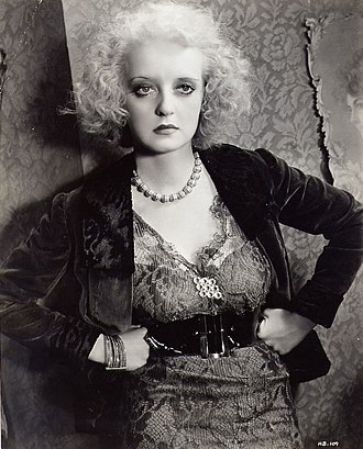 Bette Davis - As the shrewish Mildred in Of Human Bondage (1934), Davis was acclaimed for her dramatic performance.