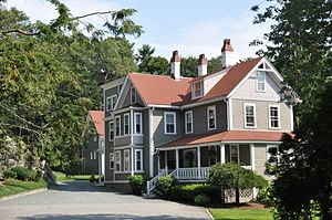 Beverly Farms - The Oliver Wendell Holmes House is registered on the list of National Register of Historic Places.