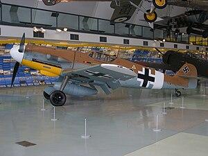 "Jagdgeschwader 1 (World War II) - Bf 109G-2 ""Gustav"" 'Black 6', on display at Royal Air Force Museum London"