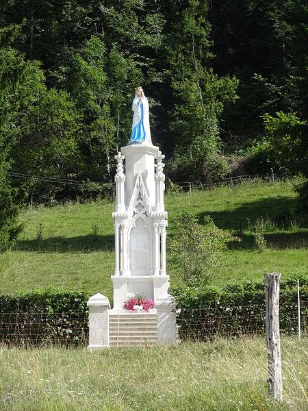 Bians-les-Usiers (Doubs) - Vierge sur la route de la Côte
