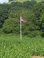 Bickleigh , The Maize Maze - Flagpole - geograph.org.uk - 1223902.jpg