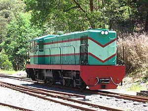 Walhalla Goldfields Railway - Image: Bigdiesel