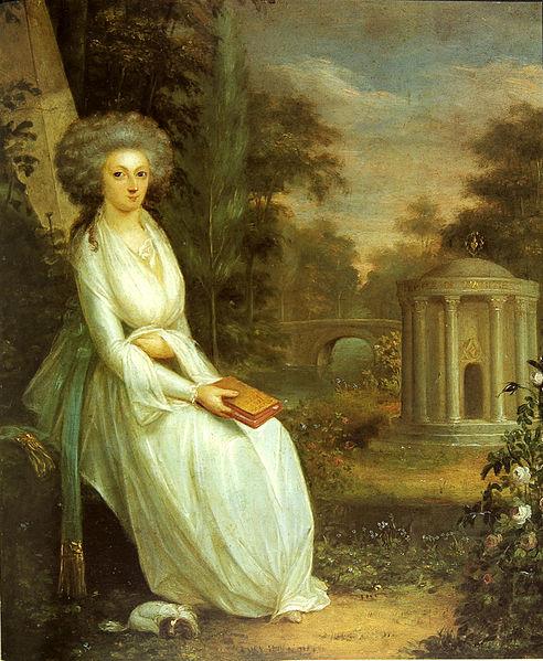 File:Bildnis der Rosine Alexandrine Freiin von Korff Schmising im Park.jpg