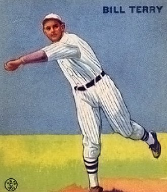 Bill Terry - Bill Terry on a Goudey card, 1933