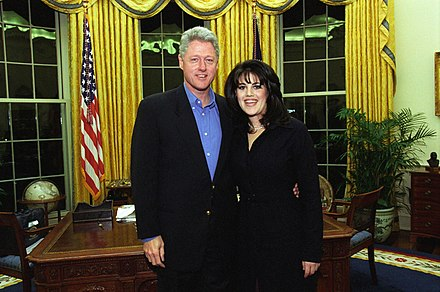 Clinton and Monica Lewinsky on February 28, 1997 Bill Clinton and Monica Lewinsky on February 28, 1997 A3e06420664168d9466c84c3e31ccc2f.jpg