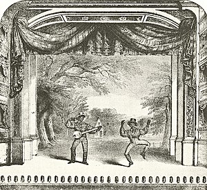 John Diamond (dancer) - John Diamond's dances involved acrobatic footwork, as shown in this detail from the sheet music cover of Whitlock's Collection of Ethiopian Melodies, 1846. The banjoist is Billy Whitlock, but it is unclear whether the dancer is John Diamond or Frank Diamond.