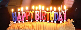 Happy Birthday to You - Image: Birthday candles