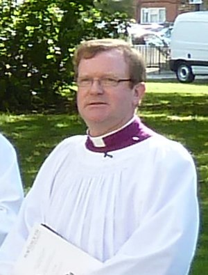 Christopher Foster (bishop) - Foster before his enthronement at Portsmouth