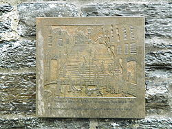 Photo of L. S. Lowry stone plaque