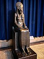Black granite statue of the Goddess Sekhmet excavated in Thebes in the Ramesseum 1405-1367 BCE (Late 18th Dynasty) Egypt Penn Museum.jpg