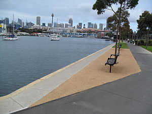 Blackwattle Bay - Image: Blackwattle Bay view to east