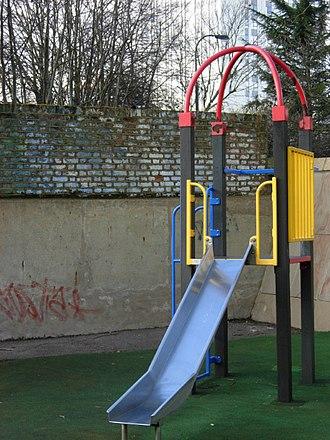 Chalcots Estate - Part of Blashford Children's Playground, next to Blashford Tower, part of the Chalcots Estate