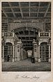 Bodleian Library, Oxford; interior panoramic view. Line engr Wellcome V0014203.jpg