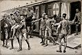 Boer War; wounded soldiers being escorted off the hospital t Wellcome V0015554.jpg