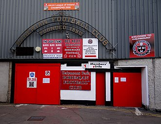 Dalymount Park - Entrance gate to Dalymount Park