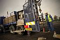 Borehole Drilling Rig in Operation in North Yorkshire, Nov 2012.jpg