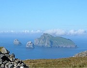 Boreray, Stac Lee, and Stac an Armin (left) from the heights of Conachair