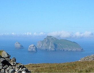 Stac an Armin - Boreray with Stac an Armin (left) and Stac Lee (right)