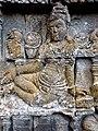 Borobudur - Divyavadana - 079 N, King Sikhandi hears of the death of Rudrayana (detail 2) (11706197423).jpg