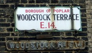 Metropolitan Borough of Poplar - Borough of Poplar street sign