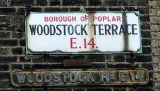 Metropolitan Borough of Poplar - Borough of Poplar street sign