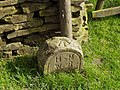 Boundary stone used as OS benchmark - geograph.org.uk - 490989.jpg