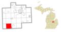 Brady Township (Saginaw), MI location.png