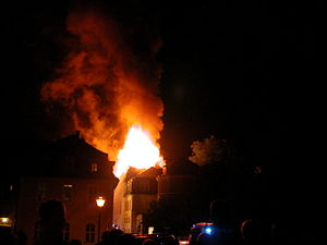 Duchess Anna Amalia Library - The Library burning