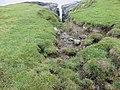Brandungsspalt, Spritzwasserzone oberhalb mit Erosion der Grasnarbe.jpg