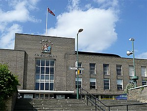 Municipal Borough of Wembley - Image: Brent Town Hall (Front), Wembley geograph.org.uk 865102