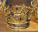Bridal crown, made by G. Hagstrom, Stockholm, 1797, glass, silver, gilt - Nordiska museet - Stockholm, Sweden - DSC09731.JPG