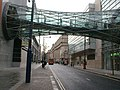 The Corporation Street Bridge is a horizontal doubly ruled hyperboloid structure, Manchester, England, 1999.