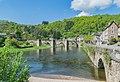 Bridge over Lot River in Estaing 01.jpg