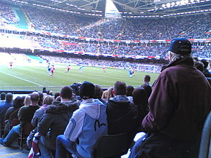 2006–07 Bristol Rovers F.C. season - Bristol Rovers playing in the Football League Trophy final at the Millennium Stadium.